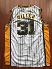 NBA Indiana Pacers Reggie Miller Throwback Hardwood Sewn Stitched White Jersey