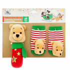 Disney Store Winnie the Pooh Holiday Rattle  Sock Set Baby 0 6 12 24 Months New