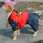 Thicken Large Dog Clothes Winter Waterproof Hoodie Jumpsuit Warm Coat Golden Ret