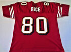 JERRY RICE # 80 49ERS VINTAGE ADIDAS MENS RED LARGE AUTHENTIC FOOTBALL JERSEY