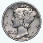 Collectible 1945-S Mercury Liberty 90% Silver United States Dime *678