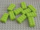 NEW LEGO 2x4 BRICKS 3001 - Packs of 10 - PICK YOUR COLOUR &amp; QUANTITY - 12 COLOUR <br/> One postage price, 1st Class postage to UK!!
