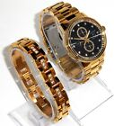 CITIZEN ECO-DRIVE $550 MEN NIGHTHAWK CHRONO CRYSTALS WATCH GIFT SET FB3002-61E