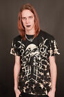 Gothic Tribal Skull T - Shirt With Rivets Size Medium or Large