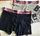 U S Polo Assn Cotton Stretch Boxer Briefs Patriotic Flag Waistband M, L, XL