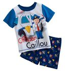 Officer Caillou Summer Pajama Set Size's 3T or 4T NWT  Too Cute !!