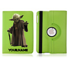 Star Wars Yoda Personalised Name Rotating Case Cover iPad Mini Air Pro £17.79 GBP on eBay