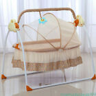 Auto Swing Rocker Cot Baby Infant Sleeping Bed Cradle Big Space Electric Crib US