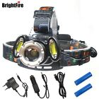 LED Torch Headlamp Headlight Rechargeable Zoom Headlight 18650 Battery USB Lamp