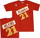 Atlanta Hawks Dominique Wilkins Adidas Throwback T Shirt