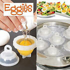 Egglettes Egg Cooker Hard Boiled Eggs without Shell 6 +1 Egg Cups new