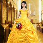 Adult Belle Young Ladies Cosplay Princess Costume Fancy Dress UK Sizes 6-20