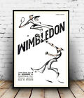 Wimbledon Tennis : Old Travel advert, poster, Wall art, poster, reproduction.