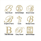 "Unfinished Wooden Monogram Letter ""B"" in Your Choice of Size and Font"
