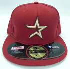 HOUSTON ASTROS BURNT RED VINTAGE THROWBACK FITTED NEW ERA CAP SIZED NEW RARE