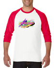 Gildan Raglan T-shirt 3/4 Sleeve Sports Hockey Slap Shot