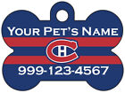 Montreal Canadiens Custom Pet Id Dog Tag Personalized w/ Name & Number $10.97 USD on eBay