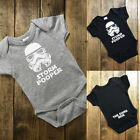 US Baby Boys Girls Short Sleeve Romper Bodysuit Star Wars Funny Clothes Outfit $3.99 USD