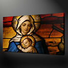 LADY MADONNA MARY & BABY JESUS CANVAS PRINT PICTURE WALL ART FREE FAST DELIVERY