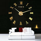 Modern Stainless Steel Acrylic Metal Round Rome digital AA wall clock