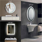LED Bathroom Lighted Vanity Wall Mirror for Make up w/ Touch Button new
