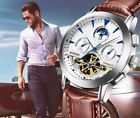 BINGER Automatic Moon Phase Sapphire Crystal Stainless Steel Men's Watch Wristwatches - 31387