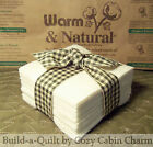 "7"" Warm & Natural Rag Quilt Precut Batting Fabric Squares *Pick Quantity*"