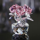 New Crystal Cut Glass Flower Figurines Living Room Rose Ornaments Wedding Gift