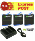 Wasabi Power Batteries and Dual/Triple USB Charger Kit for GoPro HERO 6,5,4,3,3+