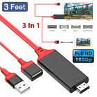 Lightning to HDMI Cable HDTV TV Digital AV Adapter for iPad iPhone X 7 8 Plus