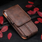 New Retro Universal Double Phone Case Bag Belt Clip Holster Card Case For Huawei
