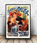 Bieres de la Meuse : Vintage Beer Ad  , poster, Wall art, poster, reproduction.