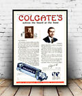 Colegate's Shave : Vintage Travel Ad , poster, Wall art, poster, reproduction.