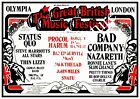 The Great British music festival : old advert, Reproduction poster, Wall art.