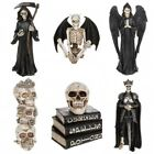 Gothic Ghouls Resin Ornaments Grim Reaper Wings King Skulls & Books Statue