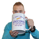 Funny Mugs - I Wish I Was A Unicorn - Geek Nerd Scifi Sci Fi Syfy GIANT MUG