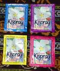 Kispray. Bali Fabric/Air Fresher and Ironing Aid. 4 x 21ml sachets. 4 x Scents