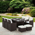 11 Piece 10 Seater Rattan Cube Dining Table Garden Furniture Patio Set Outdoor <br/> *FREE DELIVERY TO NORTHERN IRELAND &amp; SOUTHERN IRELAND*