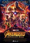 THE AVENGERS INFINITY WAR POSTER Hulk Iron Man Captain America Spiderman A4 A3