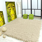 Small Medium Large CREAM/IVORY 5cm Thick Pile Soft Shaggy Rug Carpet Rugs New