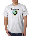 Gildan Short Sleeve T-shirt City State Country Indiana State Seal 2018