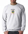Gildan Long Sleeve T-shirt City State Country Iowa Seal Home Sweet Home