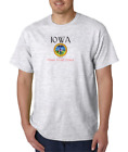 Gildan Short Sleeve T-shirt City State Country Iowa Seal Home Sweet Home