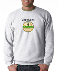 Gildan Crewneck Sweatshirt USA State Seal Vermont Big