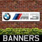 BMW M3 White PVC Banner Garage Workshop Showroom Advertising Signs (BANPN00210)