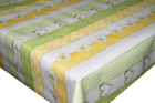 Summer Daisy Plank Yellow PVC Tablecloth Vinyl Oilcloth Kitchen Dining Table