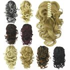Short Thick Curly Claw Clip In Ponytail Extension Synthetic Wave Messy Pony Tail