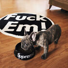 Supreme Ceramic Hype Bowl Puppy Dog Cat Pet Fashion Food Feeder Feeding Water