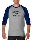 Gildan Raglan T-shirt 3/4 Sleeve USA State Property Of Kansas