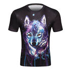 2018 HIP HOP fashion T-Shirt 3D Print Starry sky Casual wolf Animal Short Sleeve